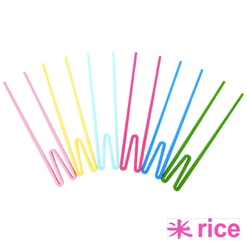 RICE melamin spisepinner i 6 farger