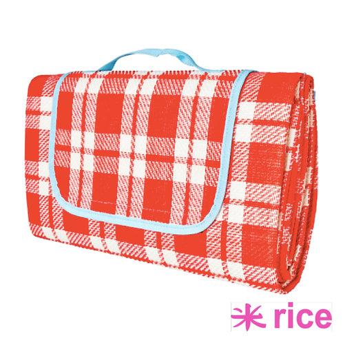 RICE rødt og hvitt piknikkteppe