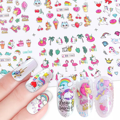 UNICORN nail design 360 stickers