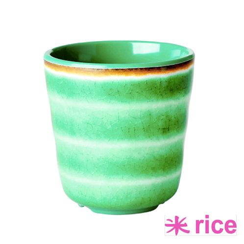 RICE melamin kopp  grønn swirl print