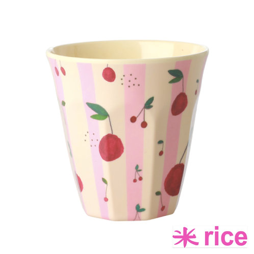RICE medium melamin kopp -cherry print