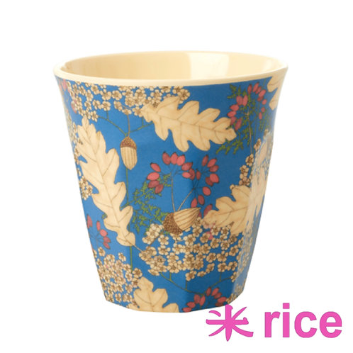 RICE medium melamin kopp - Autumn and Acorns print