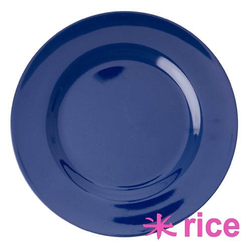 RICE melamin tallerken Navy Blue 25 cm