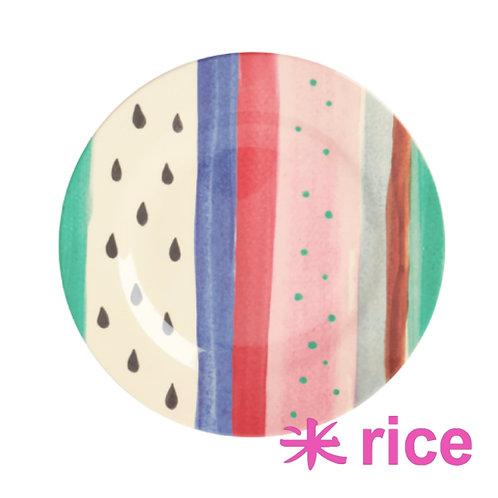 RICE  melamin tallerken Louise's Stripe Print 20 cm