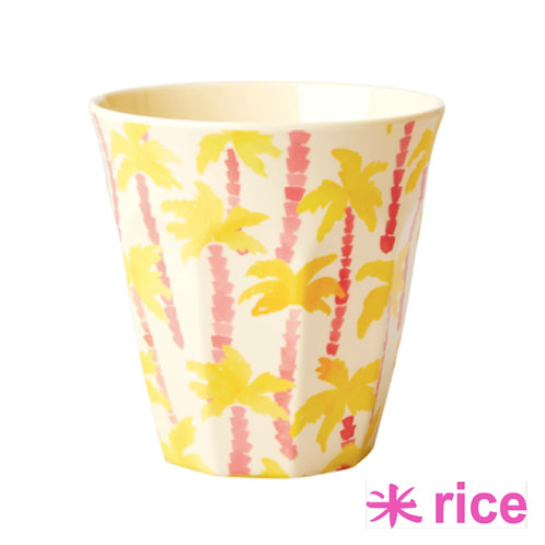 RICE medium melamin kopp - Palm Tree print