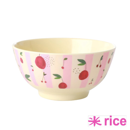 RICE RICE melamin skål - cherry- Medium