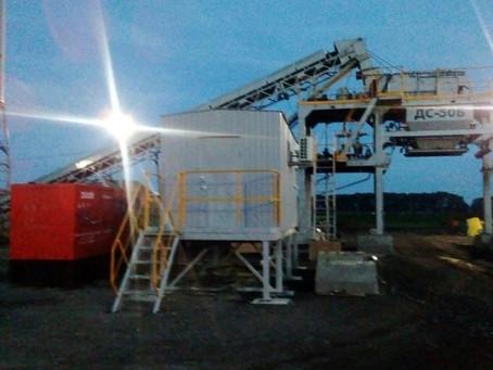 Завершилась аренда дизельного генератора на реконструкции участка трассы Воронеж-Тамбов