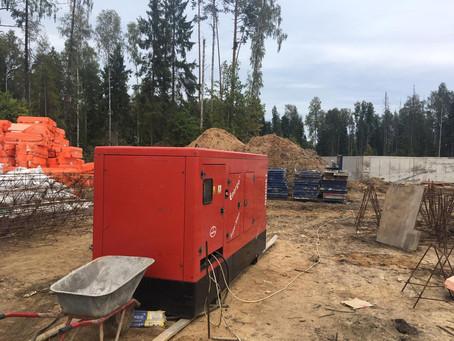 Продолжается аренда дизельных генераторов на трех объектах