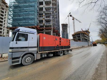 Аренда дизельных генераторов на строительстве ЖК «RiverSky» завершилась