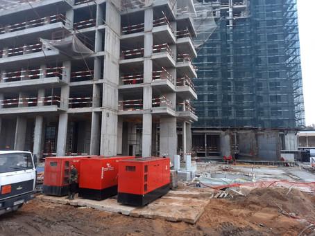 Аренда дизельных генераторов на строительстве ЖК «RiverSky»