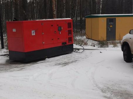 Краткосрочная аренда дизельного генератора на строительстве жилого дома в Одинцовском районе