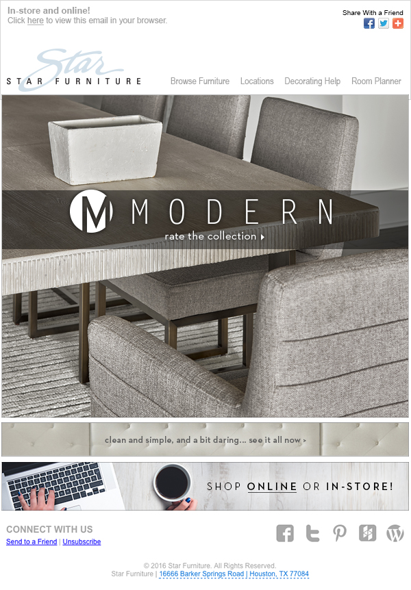 Modern Collection Email