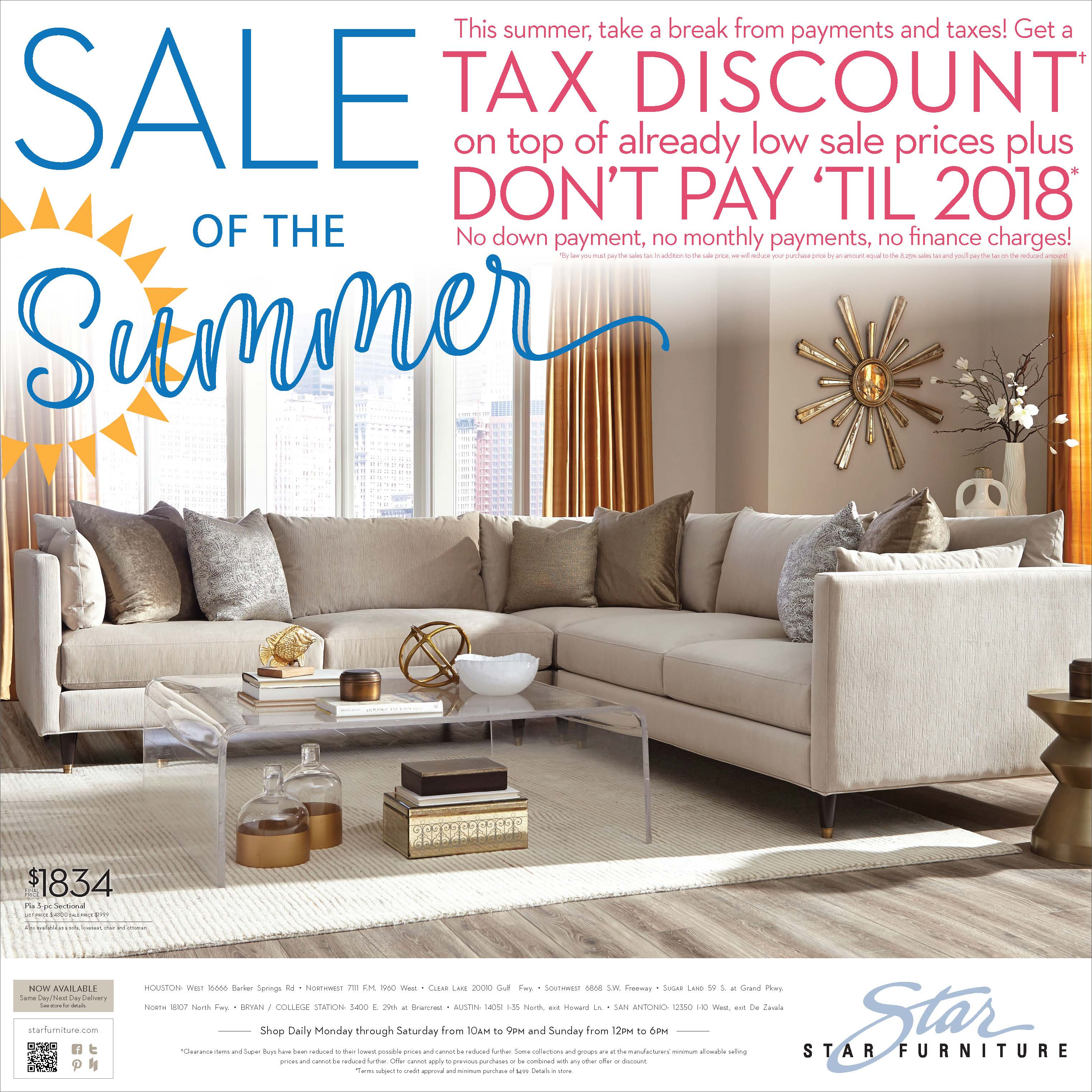 Sale Of Summer Newspaper Ad