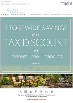 Tax discount Email