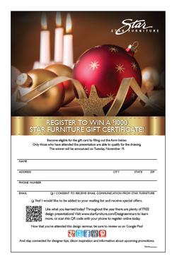 Holiday Decorating Registration Card