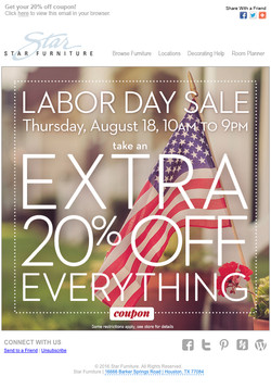 Labor Day Email