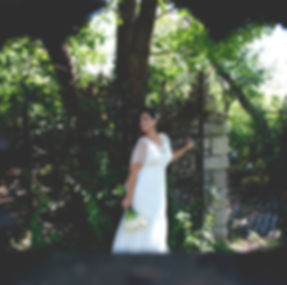 bride in weddng photography in park in buffalo ny by megan rechin