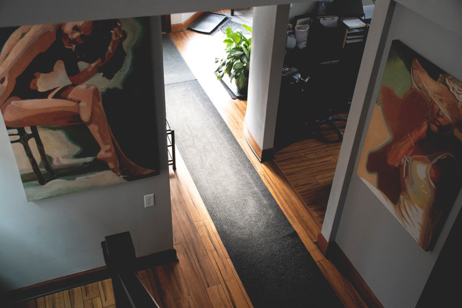 Eagle eye view of stairs