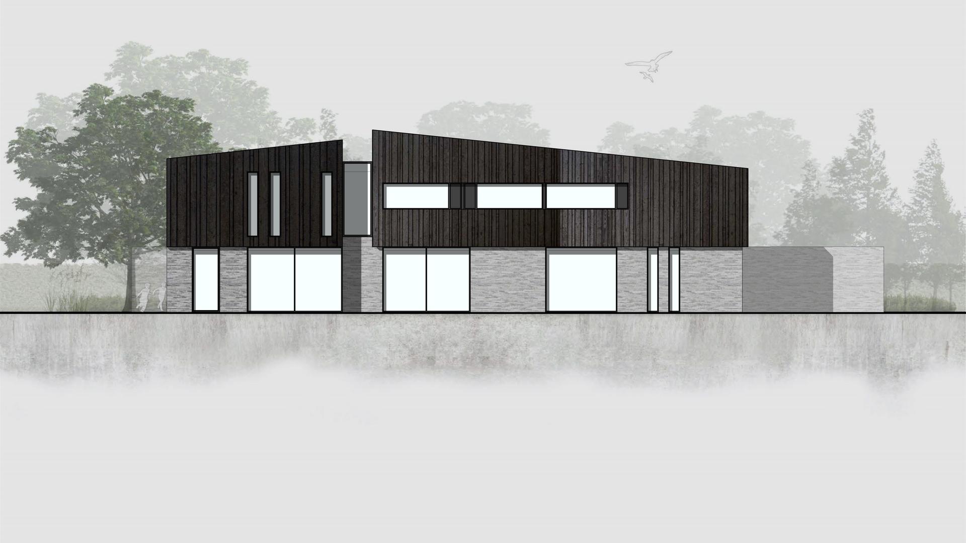 Villa LIMBURG achtergevel Addo Architect