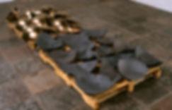 (Ceramics) 1992. Casa Candina Biennal award. Ceramic, glaze, slip, crates. Casa Candina collection, Museo de Arte de Ponce, Puerto Rico.