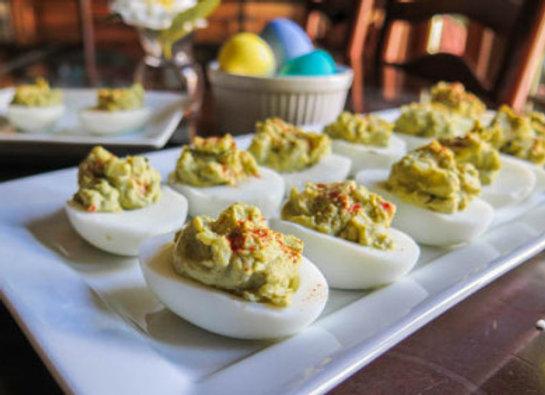 Avacado Crab Deviled Eggs Recipe