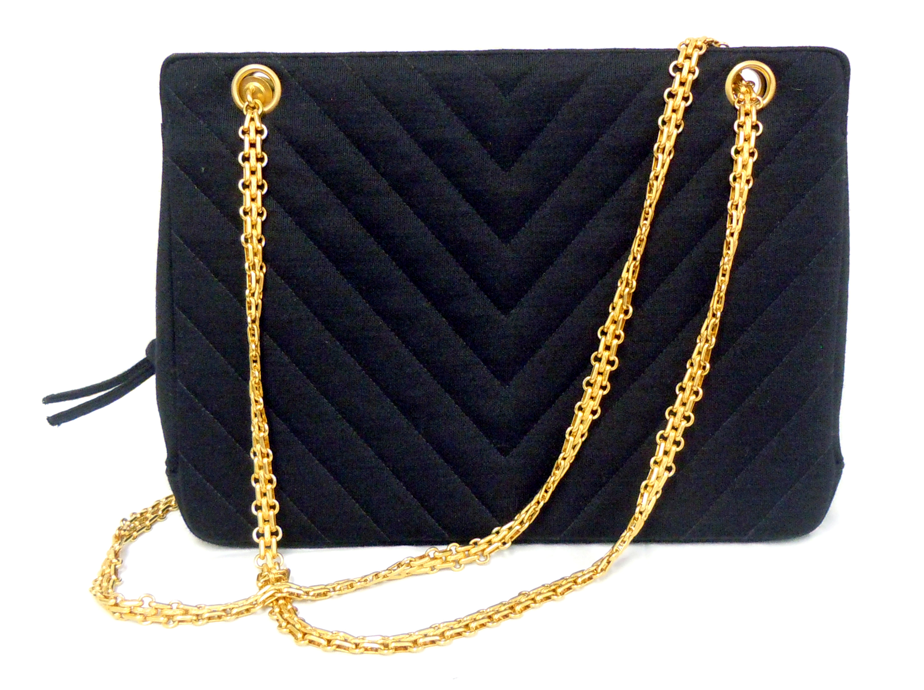 Chanel- Chevron Quilted Tote