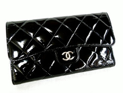 Chanel Quilted Patent Wallet