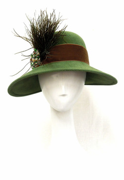Louise Green- Felt Feather Hat