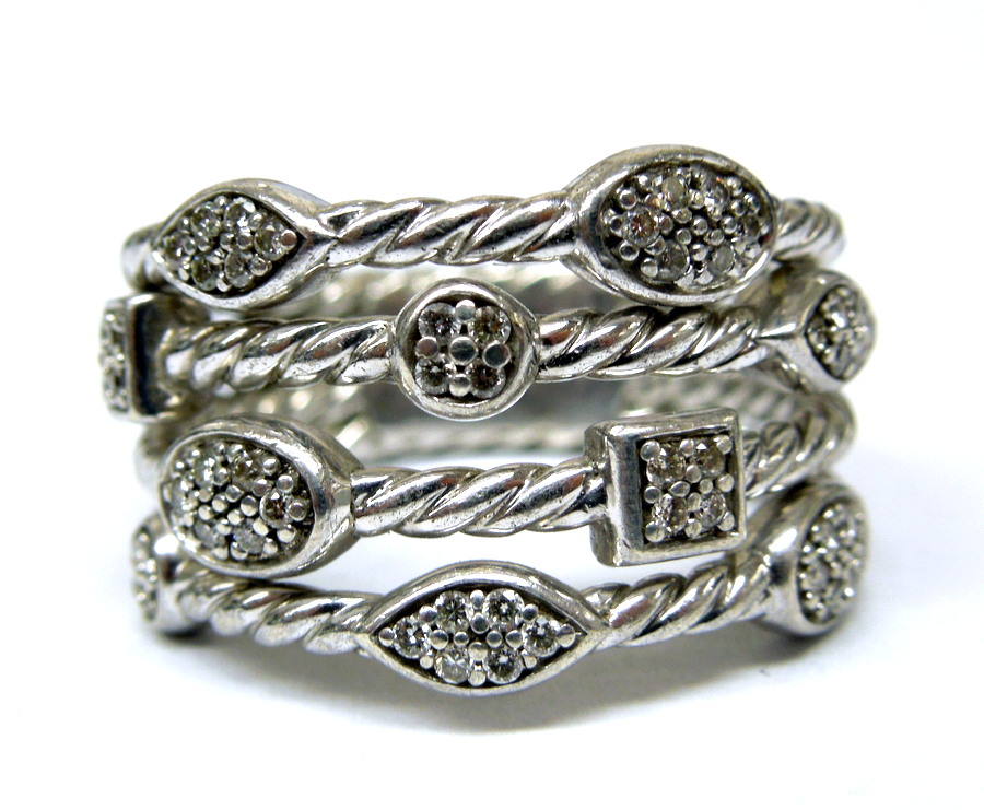 David Yurman- Diamond Cable Ring