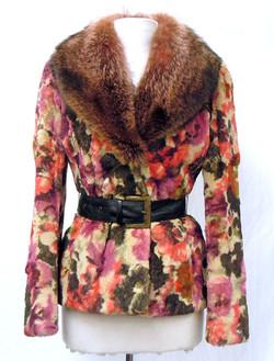 Etro- Fur Floral Coat