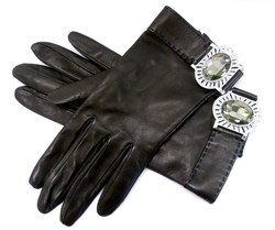Judith Leiber- Leather Gloves