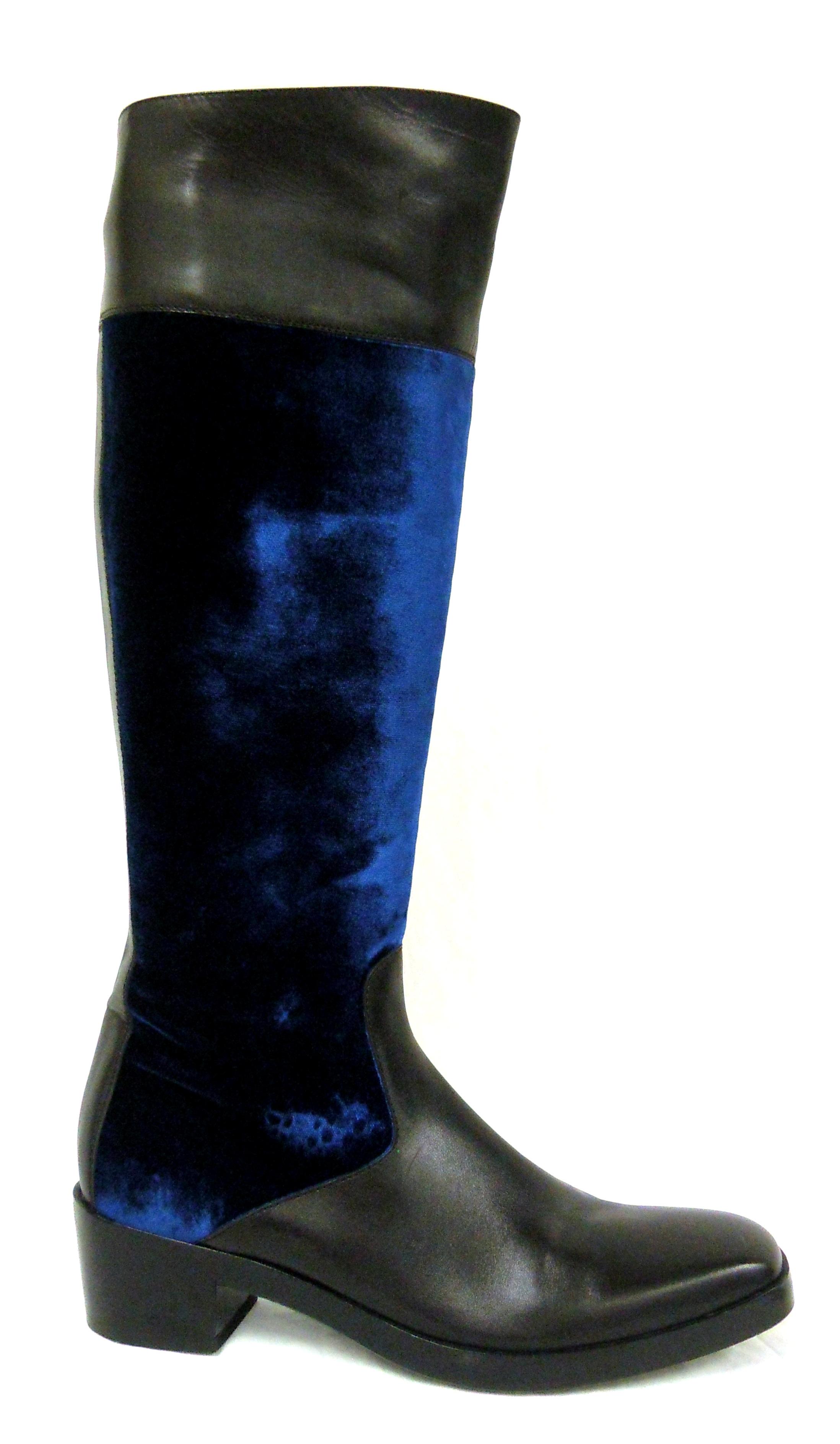 Balenciaga- Velvet Riding Boots