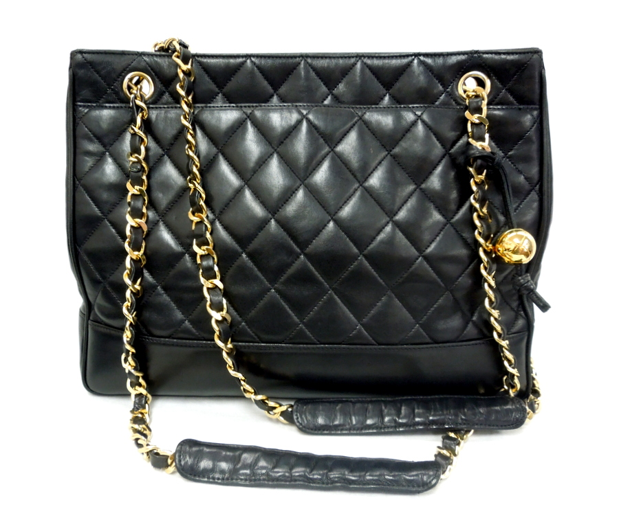 Chanel- Lambskin Quilted Tote
