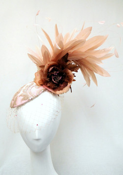 Arturo Rios- Blush Rose Fascinator