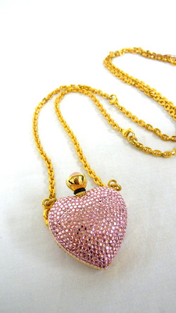 Judith Leiber-Heart Bottle Necklace