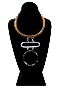 Ben Amun- Silver & Wood Necklace