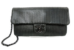 Chanel- Laser-Cut Wristlet Clutch