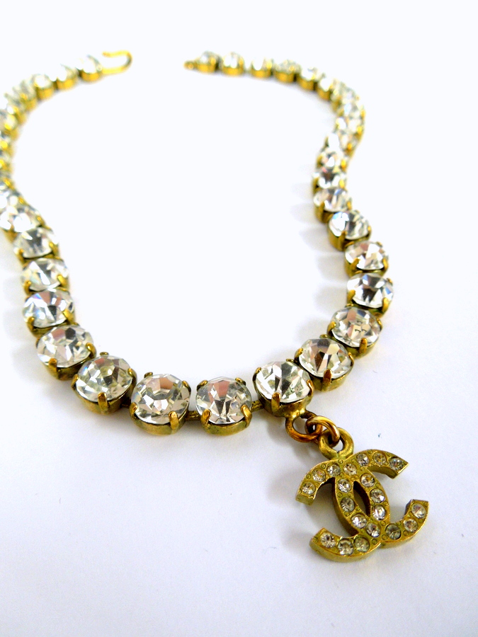 Vintage Chanel Rhinestone Necklace