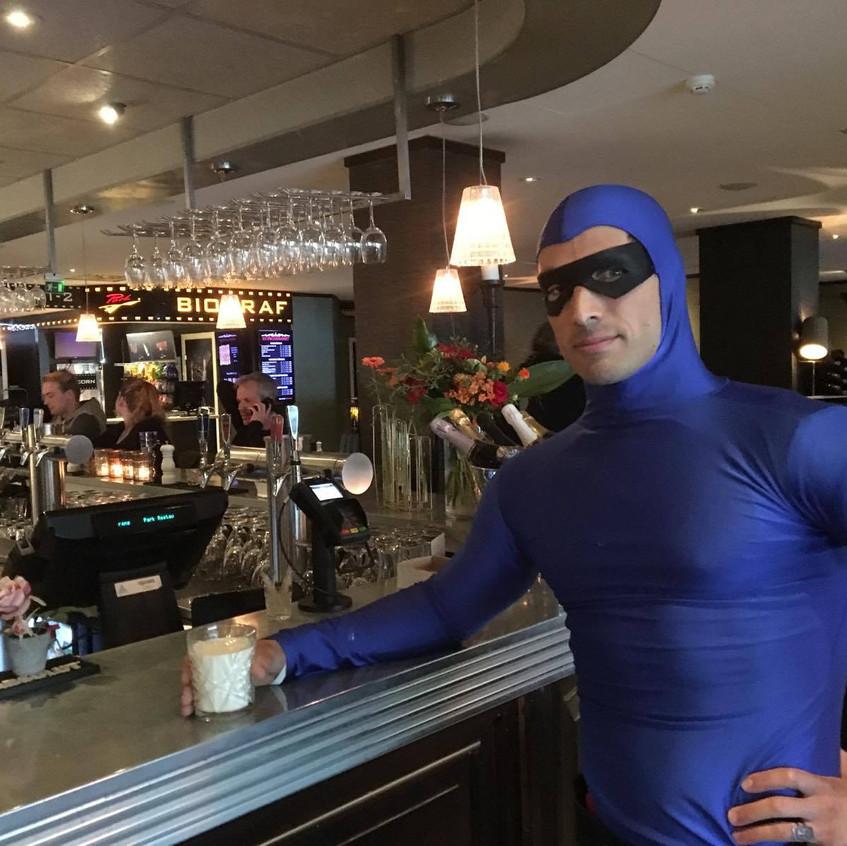 The Phantom orders a milk