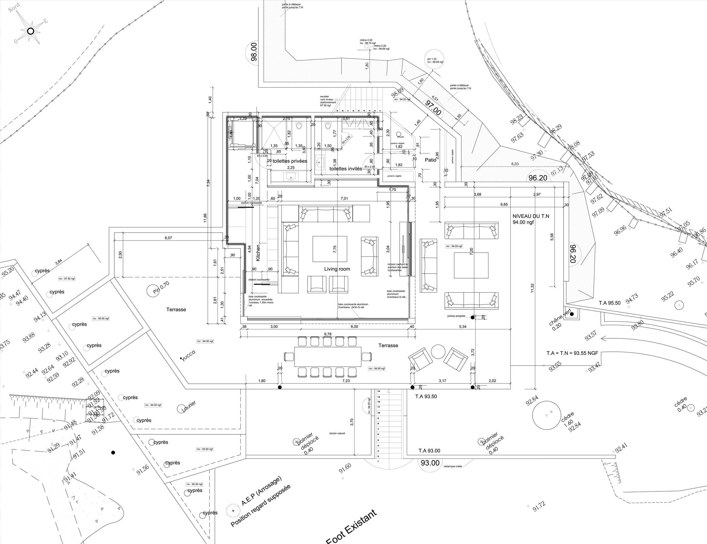 plans détaillés d'un projet