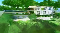 villa moderne sur pilotis