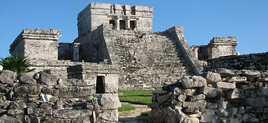 ANCIENT CITY OF TULUM Experience the ancient Mayan paradise kingdom rising high above the magnificent crystal blue Caribbean Sea.