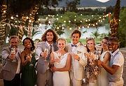 結婚式の家族の写真