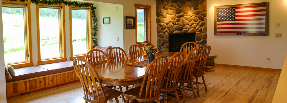 Large dining area.