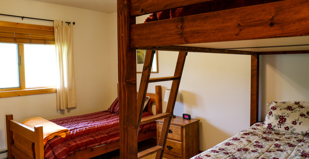 Three twin beds