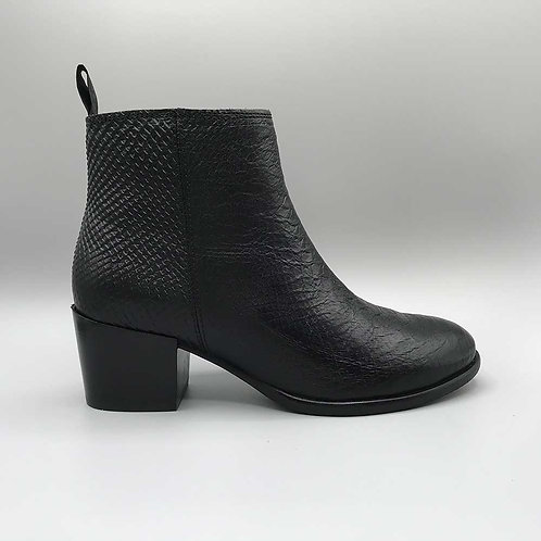 Ten Points – Stiefelette Jona, croco black