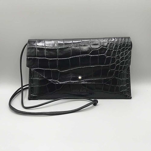 ann kurz – Clutch Mia Envelope, croco black