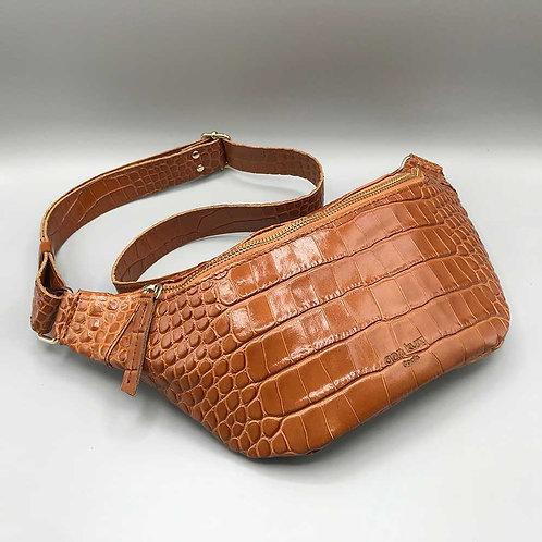 ann kurz – Tasche Fanny, croco cuio