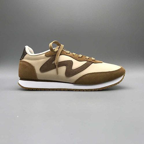 Woden – Sneaker Olivia, beige/cognac