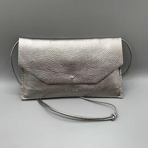 ann kurz – Clutch Mia Envelope, metal silver